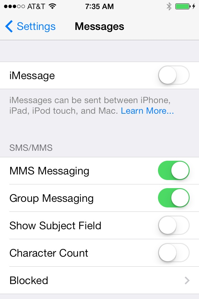 How To: Fix iOS 7 not delivering texts