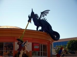 Lego Dragon at Downtown Disney